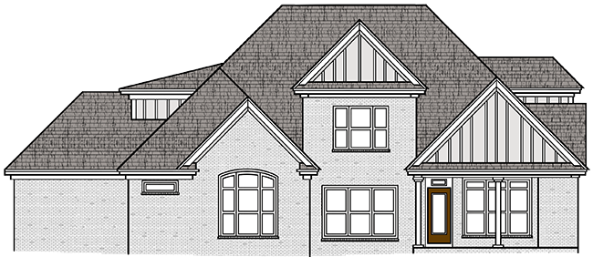 Rear Elevation of the 2017 Showcase Home