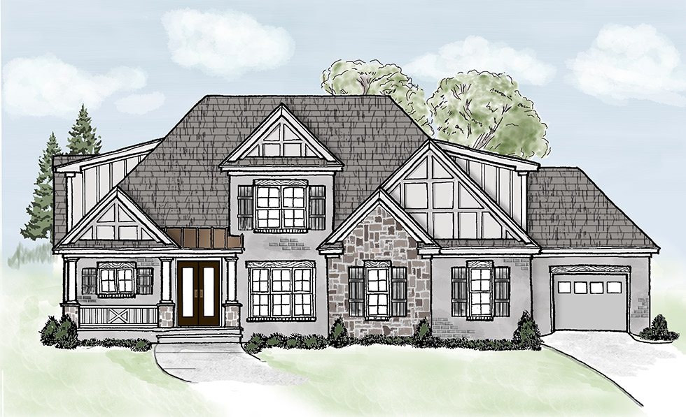 2017 Showcase Home Front Elevation Color Rendering
