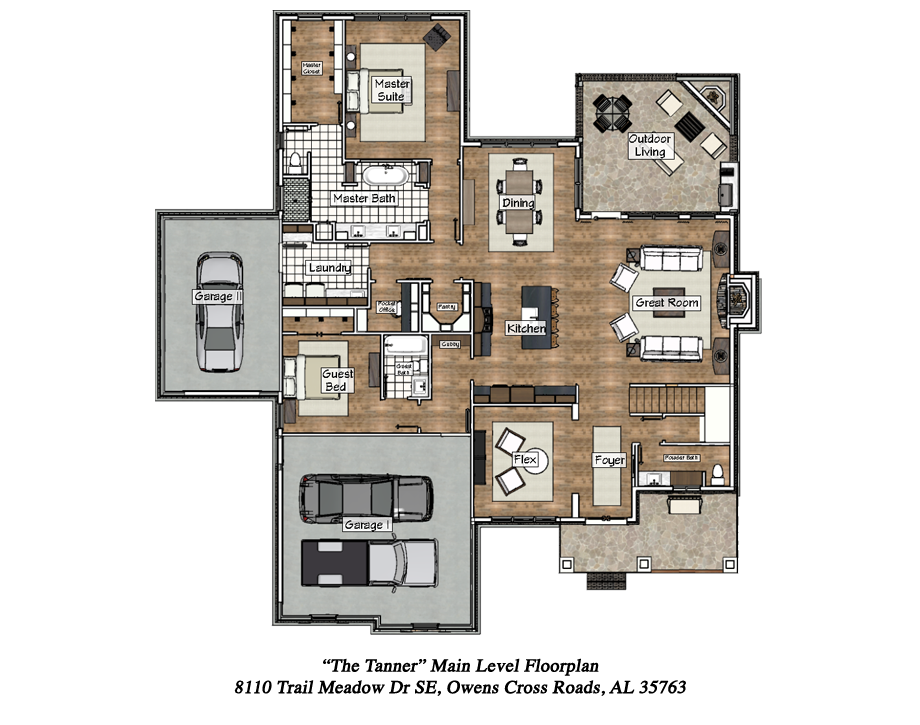 Main Level Floorplan of the 2017 Showcase Home