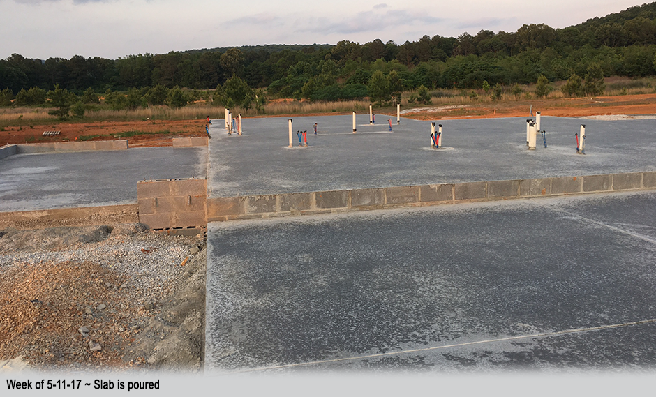 Week of 5-11-17 ~ Slab is poured
