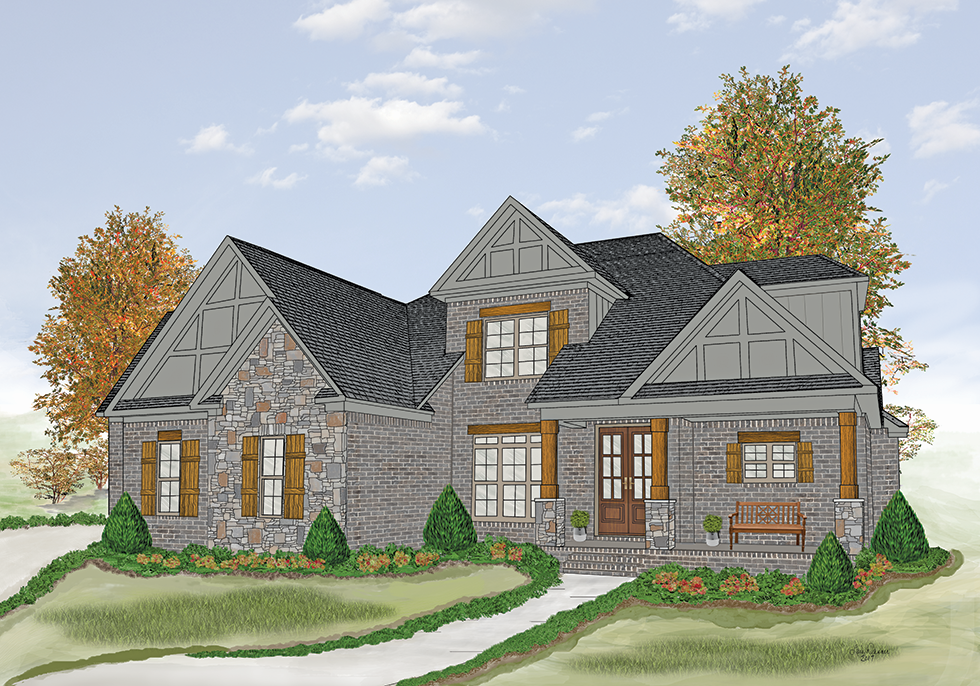 Color Rendering of the 2017 Showcase Home