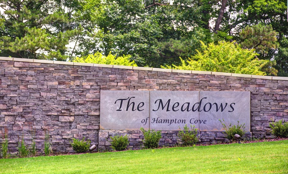 Entrance of The Meadows of Hampton Cove